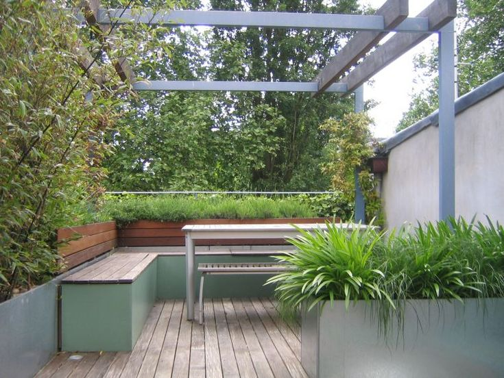 Attractive Another Strategy For Green Roof But Using Containers   Might Be More Cost  Effective Than A True Green Roof. Offset Human Footprint AND Roof Privacy  Deck