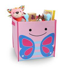 ZOO LARGE STORAGE BINS    Whether these versatile storage bins are holding books, shoes or toys, they each add a colorful Zoo personality to any room. Zoo bins are made of sturdy canvas and fold down flat when not in use.    -Easy to grip handles for little hands  -Sturdy canvas, folds flat when not in use  -Organize clothes, toys, books and more  -Features signature Zoo characters  -Fun textured details  -Fits most cube shelves  -BPA-free, Phthalate-free