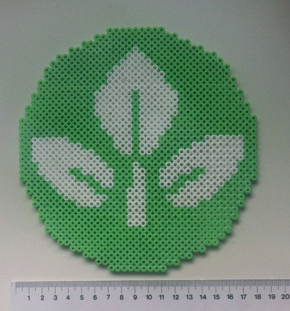 Plant symbol from Wall-E perler beads by MadebyBlackSheep