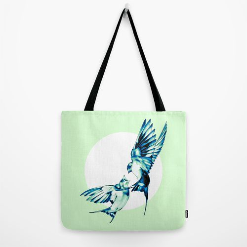 Birds Tote Bag by Nuam | Society6 ☀ ☀ ☀    #Bird, #Vector, #Swallow, #Spring, #Nature, #Birds, #Animal, #Animals, #Illustration, #Love, #Family, #Trust, #Feed, #Food, #Hipster, #Swallows, #Care, #Fly, #Spring, #Wings, #TwoBirds, #Romantic, #Bohemian, #Fly, #Flying #FlyingBird, #FlyingBirds #Decorative #summer #mint #white #bag #tote #fresh