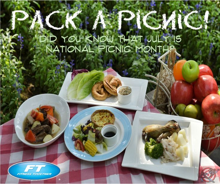 #TipTuesday : Pack a #Picnic ! Did you know that July is National Picnic Month? Be sure to fill your basket with delicious, light and healthy foods (and pack in ice for food safety) such as fresh fruit, edamame, hummus dip with raw vegetable crudités, roasted or grilled chicken breast with a salsa topping, whole grain sandwiches, corn on the cob, quinoa salad.