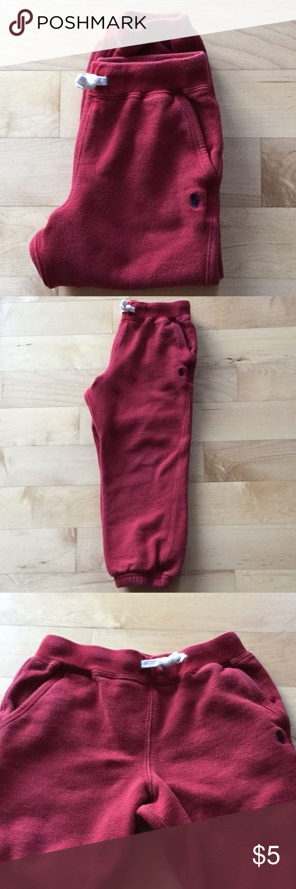 Boys Polo Sweatpants Good condition.  84% cotton and 16% polyester.  Full drawstring and two side pockets. Polo by Ralph Lauren Bottoms Casual