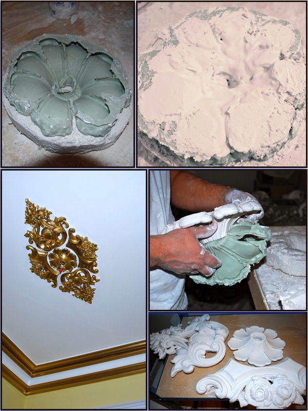 Restoring existing ornamental plaster is no problem for us!  We take a mold of the original ornament, cast an exact duplicate, and repair any imperfections that were in the original ornament.  Contact us at www.plasterexperts.com for more information!