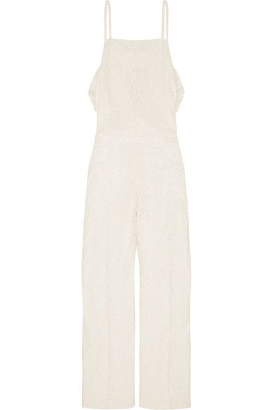 No. 21 - Ruffle-trimmed Lace Jumpsuit - Off-white - IT38