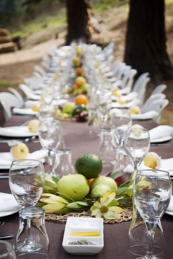 A beautiful organic setting for your wedding reception - love the colours!