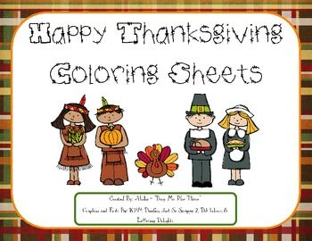 THANKSGIVING Coloring Sheets Color Pages Pilgrims Indians