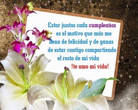 Especiales Tarjetas de Feliz Cumpleaños para regalar a tu enamorado o enamorado con muchas Frases de Amor