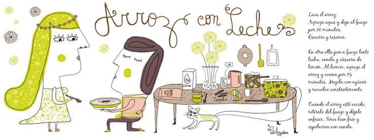 Arroz con Leche Cositas Ricas Ilustradas por Pati Aguilera