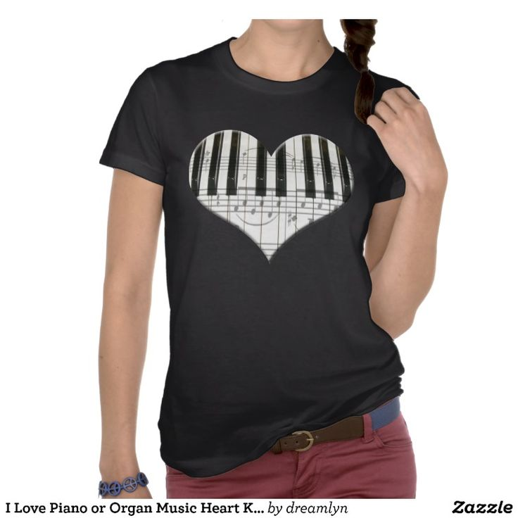Love Piano or Organ Music Heart Keyboard Shirt