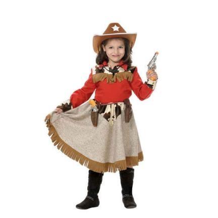 Disfraz de Vaquera infantil. Cowboy girl costume. leondisfraces