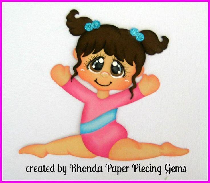 Gimnástico Girl #2 piezas de papel para páginas de álbumes de recortes prefabricados Die Cut Rhonda