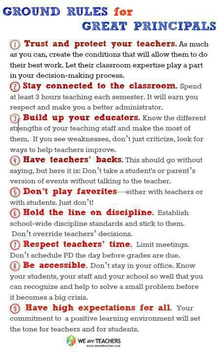 Ground rules for great principals
