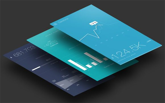 25 Mobile App Mobile App Graphs and Charts Designs