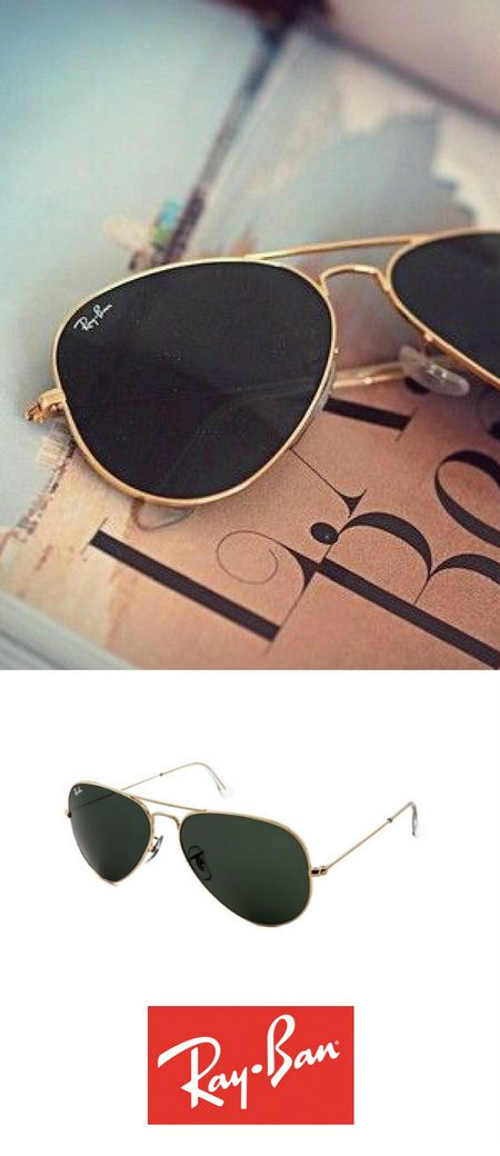 Ray-Ban Aviator sunglasses are the perfect match for any outfit and situation! www.smartbuyglass...