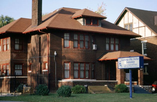 Gamma Phi Delta headquarters in Detroit Michiagn