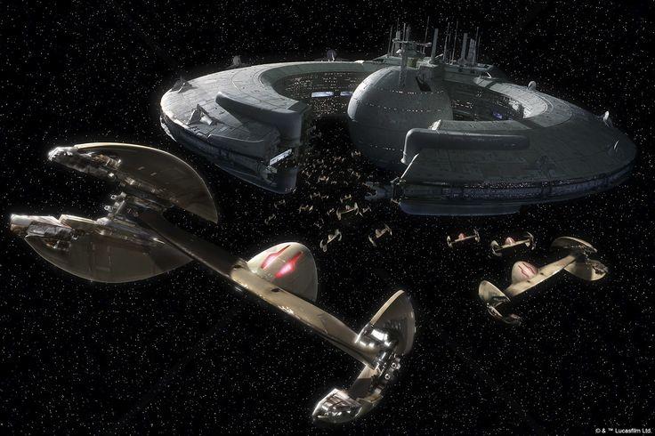 Star Wars - Trade Federation Droid Control Ship - Fototapety - Photowall