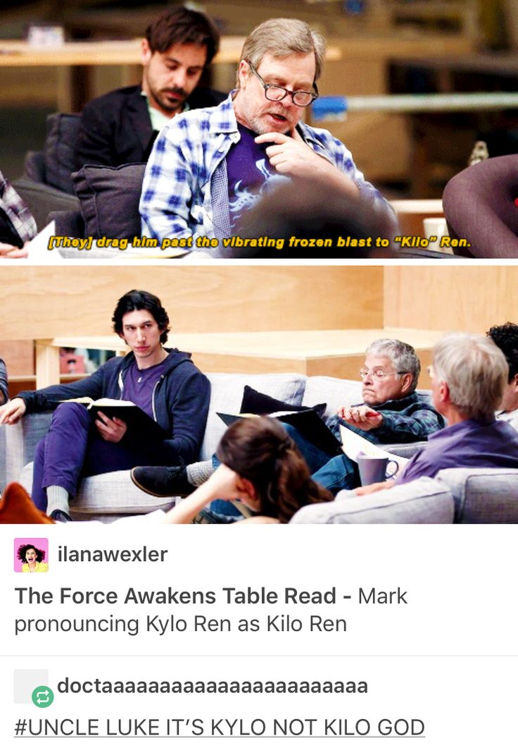 """Han and Leia disagree. """"We named you Ben, ungrateful child, not Kylo!"""" """"But Dad, Kylo is cooler!"""" <<< YES"""