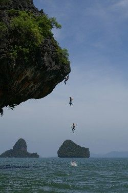 Not sure I'm a strong enough climber for this...but doesn't it look amazing! 2nd destination on my trip - Southern Thailand #jetsettercurator