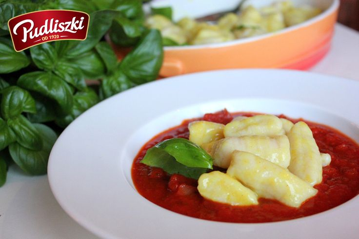Gnocchi – kopytka w pysznym sosie pomidorowym z bazylią  #przepis #pudliszki #dladzieci #kopytka