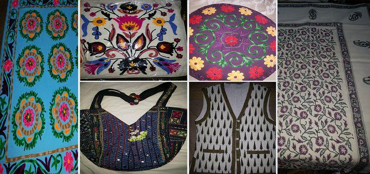 Silk, Designer Suzani Bed And Cushion Cover In Jaipur, Vintage Bag ,Print jacket