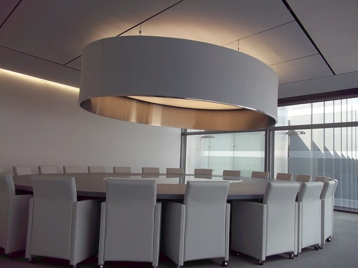 Stretch Ceilings Lamp Shade created and engineered by Edward Ray International @ Repsol Madrid