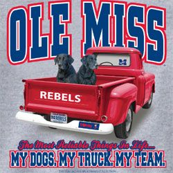 Ole Miss Rebels Football T-Shirts - My Dogs My Truck My Team