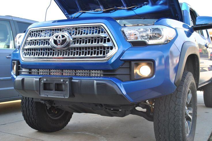 "Image of 2016 Toyota Tacoma 31.5"" Light Bar Lower Bumper Brackets"