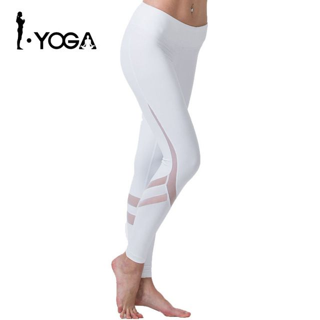 Yoga Sports Leggings For Women Tight Mesh Comprehension Pants Running Tights