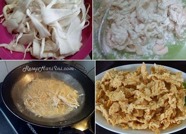 resep jamur tepung crispy
