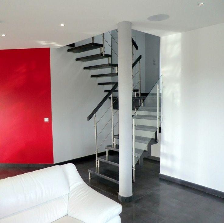 17 meilleures id es propos de escalier bois metal sur. Black Bedroom Furniture Sets. Home Design Ideas
