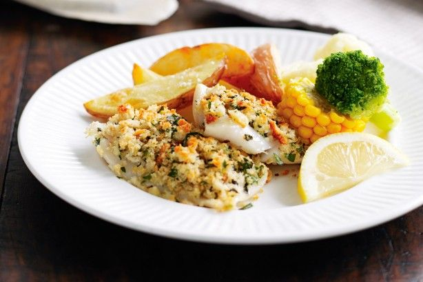 Why go out for fish and chips, when you can have this healthier low-kilojoule version at home?
