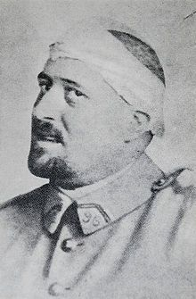 Guillaume Apollinaire in spring 1916 after his shrapnel wound to the temple (he never fully recovered and died in the Spanish Flu pandemic in 1918)