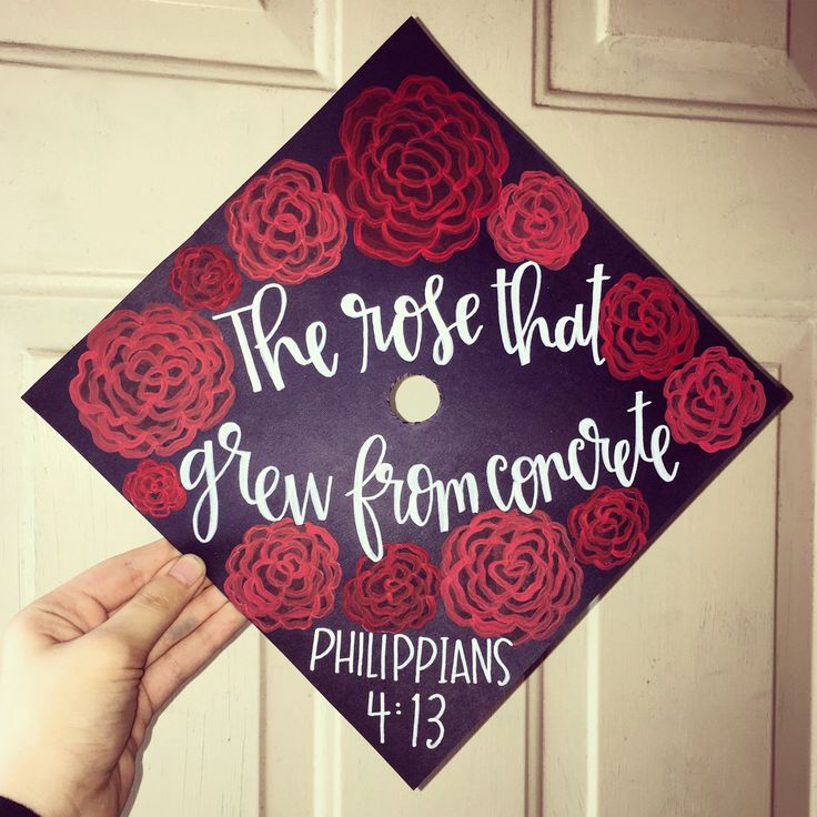 Graduation Cap ideas | Rose grad cap topper | Floral Graduation Cap idea | grad cap craft ideas