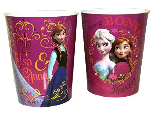 Kids' Room Wastebaskets - Disney Frozen Tin Wastebasket Elsa and Anna >>> Want additional info? Click on the image.