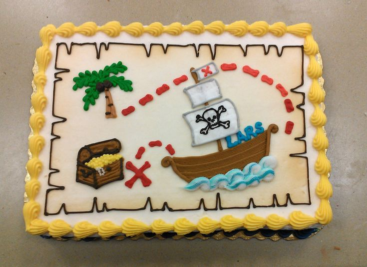 Treasure Map Cake by ayarel.deviantart.com on @deviantART