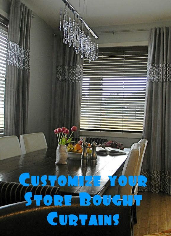 Recently I made some  living room curtains  and you know what that means.  It means that the dining room which directly adjoins this room lo...