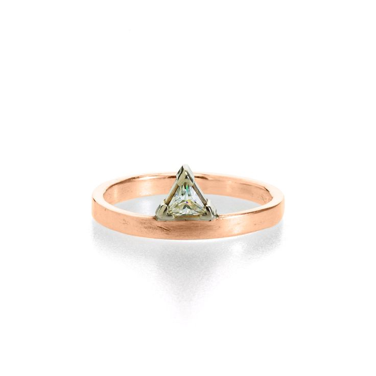 Best 25 Triangle Engagement Ring Ideas On Pinterest