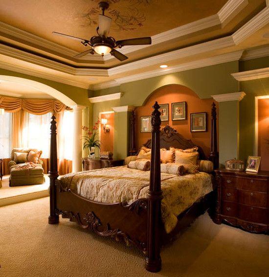 Mediterranean Bedroom | Beautiful Homes Design