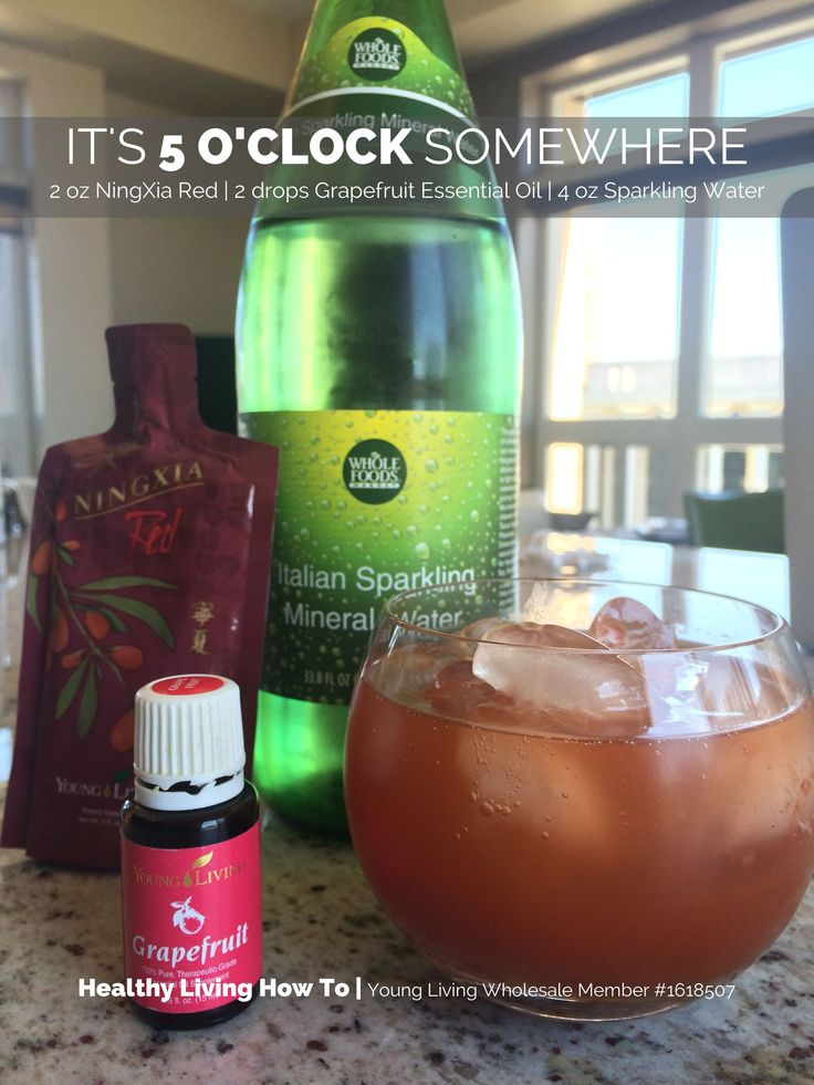 NingXia Red Mocktail | 2 oz NingXia Red, 2 Drops Grapefruit Oil and 4 oz Sparkling Water