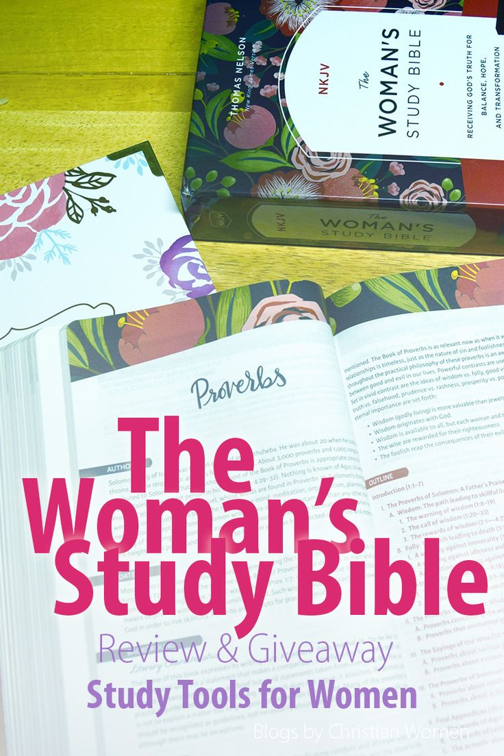 Looking for a new Bible and one that speaks to the heart of women issues. Consider the updated NKJV Woman's Study Bible. With a editiorial team of more than 80 women of faith the Woman's Study Bible is aim to help women receive God's truth for balance, hope, and transformation