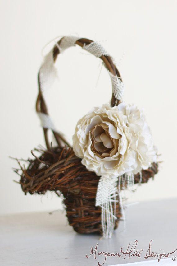 Morgann Hill Designs Rustic Flower Girl Basket