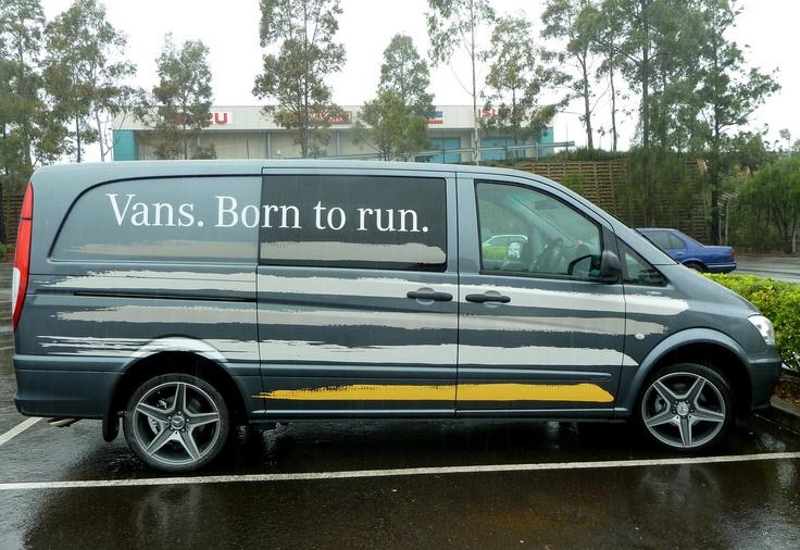 Van graphics van decals van advertising mercedes benz for Mercedes benz tagline
