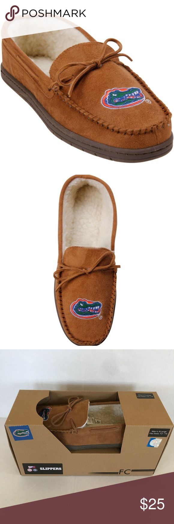 Florida Gators UF Men's Moccasin Slippers NIB new in box Florida Gators UF Men's Moccasin Slippers  Size XL (13-14)  Check out my closet for bundles! Shoes Loafers & Slip-Ons