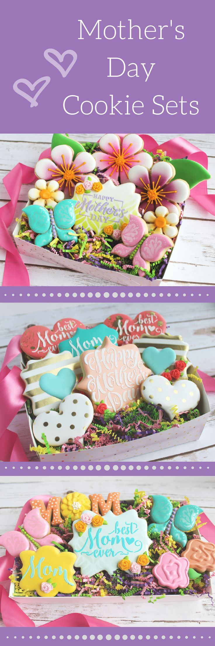 Mother's Day Best Mom Ever Sugar Cookies Set - Ready for Gift Giving - Flower Sugar Cookies, Mothers' Day, Floral Cookies, #ad #etsy Spring Cookies