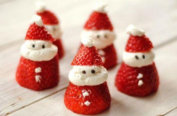 Strawberries & Cream Santas - Christmas Morning Breakfast Ideas That Your Kids Will Love - Photos