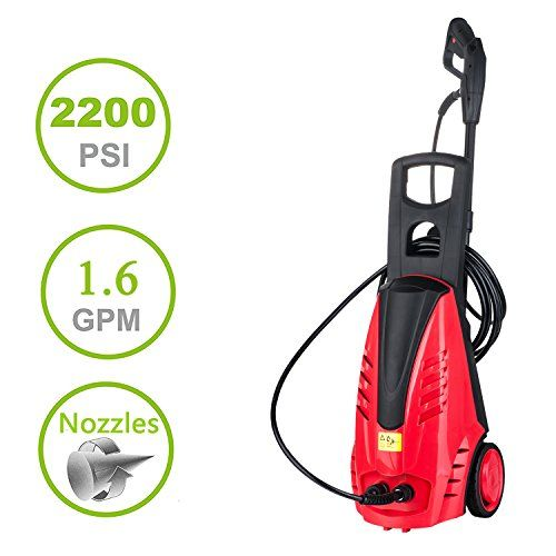 Cheap Professional 2200 PSI Electric Pressure Washer 1.6GPM 1800W Rolling  Wheels High Pressure Washer Cleaner Machine With Power Hose Nozzle Gun ...