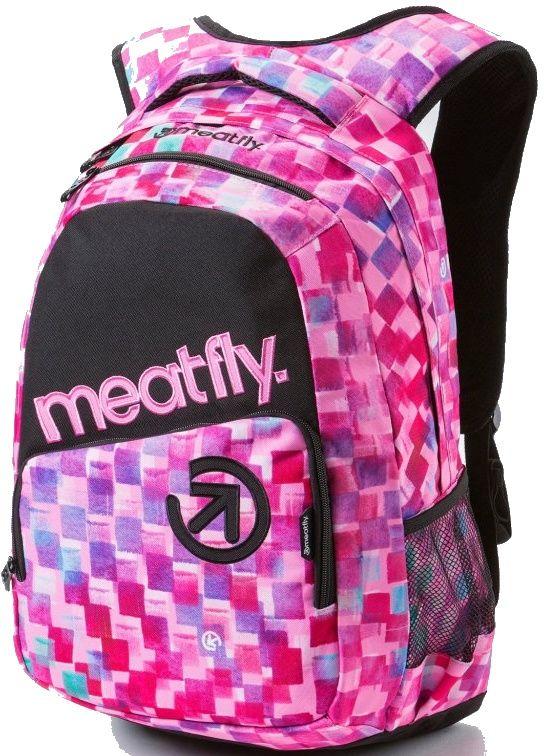 Batohy Meatfly Exile cross pink print 22l. Batoh do školy, na sport a pro volný čas.