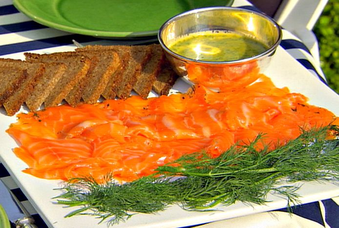 Gravlax with Mustard Sauce from FoodNetwork.com