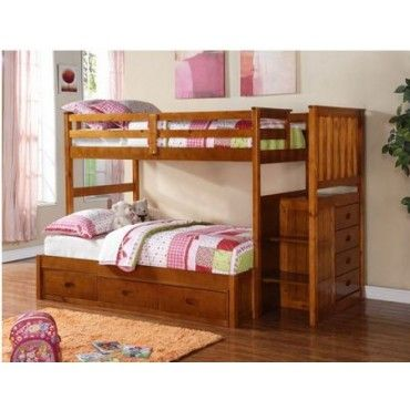 boraam twinfull fruitwood pinewood bunk bed 99522 - Fruitwood Bedroom Furniture