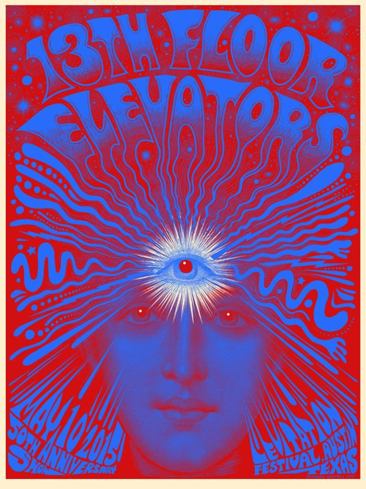 Johnny cool 1960s texas psychedelic garage 13th floor for 13th floor elevators sign of the 3 eyed men
